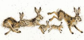 Spring in your Step Hare Cross Stitch - Hannah Dale
