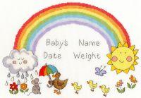 Rainbow Baby Cross Stitch Sampler - Bothy Threads
