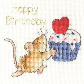 Sprinkles on Top Birthday Cross Stitch Card
