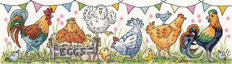 Chicken Run Cross Stitch - Heritage Crafts