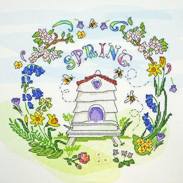 Spring Cross Stitch Sampler