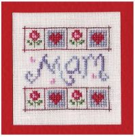 Mum, Mam, Mom Birthday Card Kit - Nia Cross Stitch