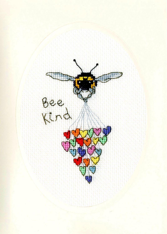 Bee Kind Cross Stitch Card - Bothy Threads