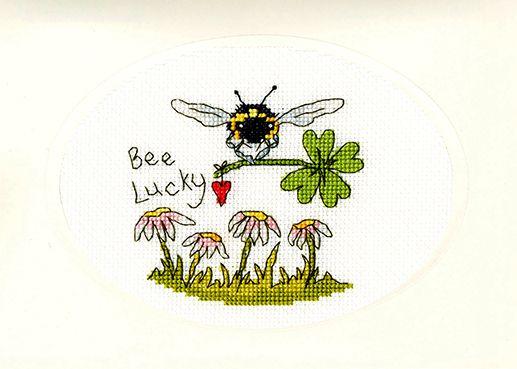 Bee Lucky Cross Stitch Card - Bothy Threads