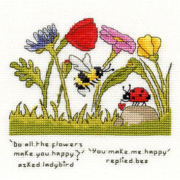 You Make Me Happy Bee - Bothy Threads