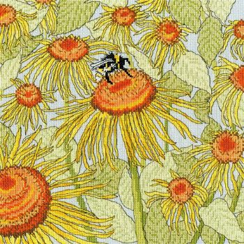 Sunflower Garden Cross Stitch