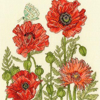 Poppy Garden Cross Stitch