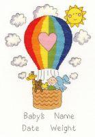 Balloon Baby Cross Stitch Sampler - Bothy Threads