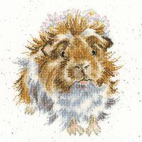 Grinny Pig cross stitch - Hannah Dale