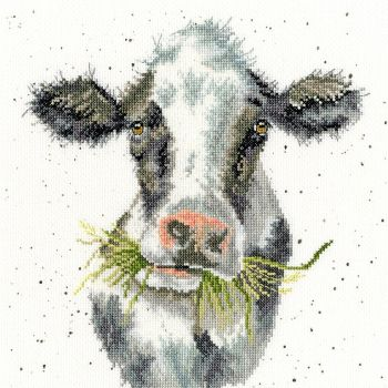 Milk Maid Cow Cross Stitch - Hannah Dale