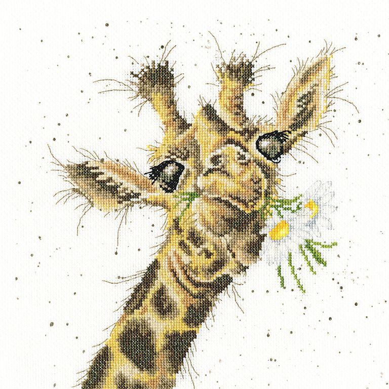 Thanks A Bunch Giraffe Cross Stitch - Hannah Dale