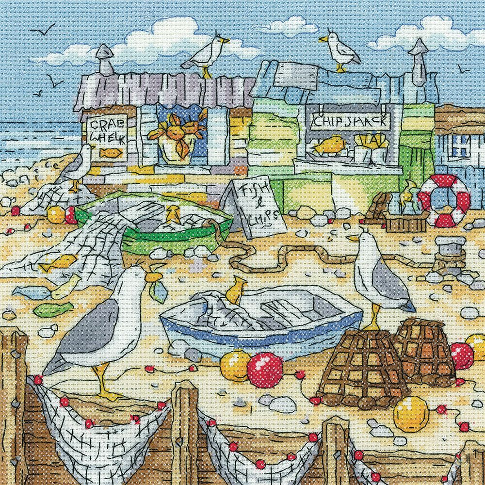 Chip Shack Seagull Cross Stitch - Heritage Crafts