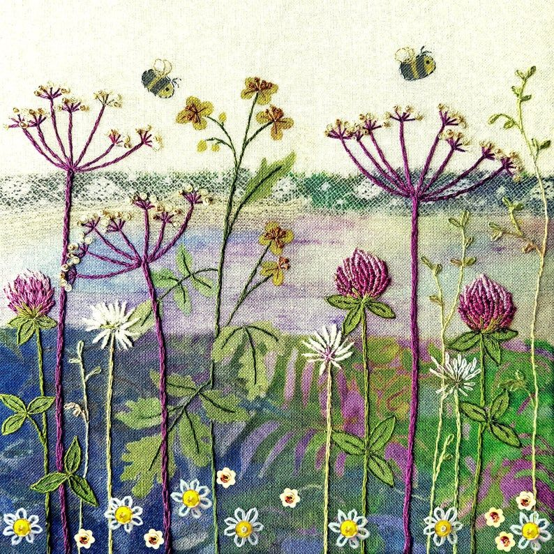 Clover Meadow Embroidery - Beaks and Bobbins