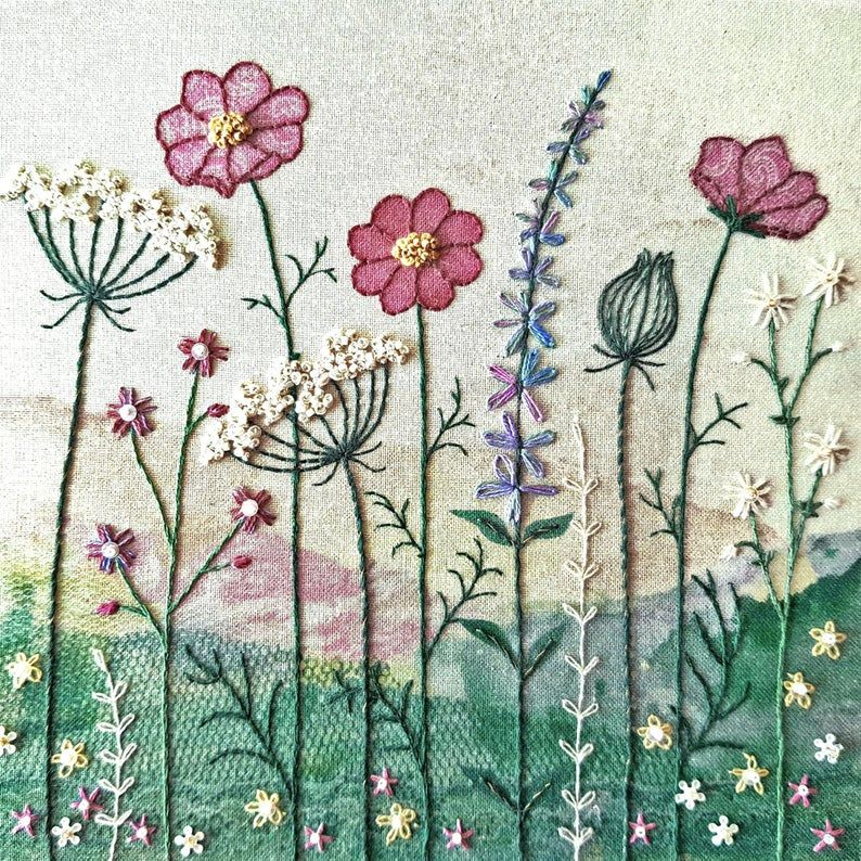 Summer Hedgerow Embroidery - Beaks and Bobbins
