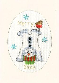 Frosty Fun Cross Stitch Card