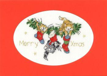 Stocking Fillers Cross Stitch Card