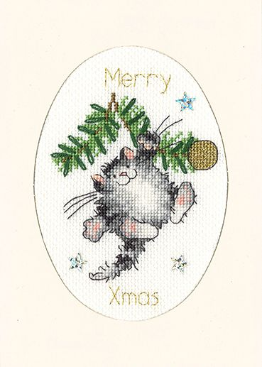 Swing into Christmas Cross Stitch Card