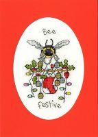 Bee Festive Cross Stitch Card - Bothy Threads