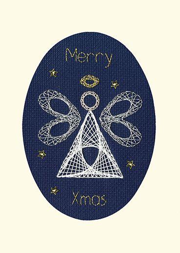 Christmas Angel Cross Stitch Card