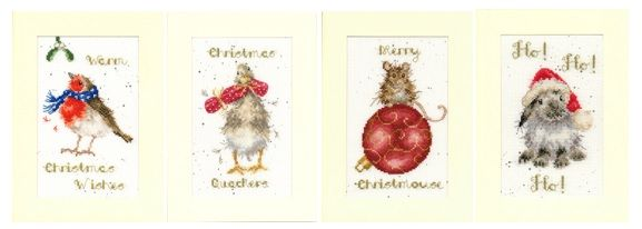 Christmas Wrendale Cross Stitch Cards