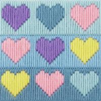 Long Stitch Hearts - Beginners