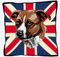 Union Jack Staffie Tapestry Kit