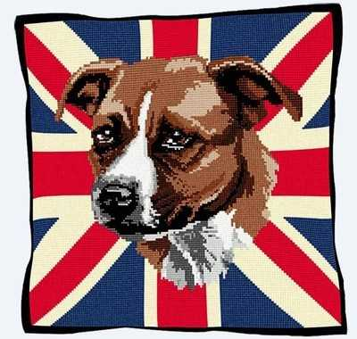 Staffie - Union Jack Tapestry Kit - Brigantia