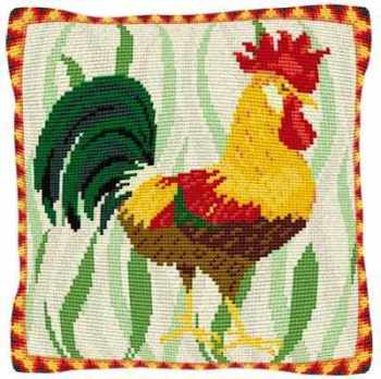 Leghorn Cockerel - Cross Stitch (printed canvas)