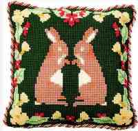 Whispering Rabbits - Cross Stitch Kit (printed canvas)