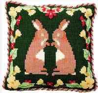 Whispering Rabbits - Cross Stitch Kit (printed canvas)