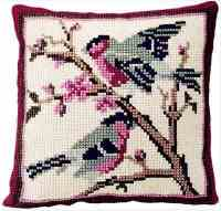 Bullfinches -  Cross Stitch Kit (printed canvas)