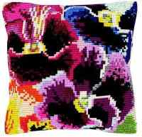 Pansies -  Cross Stitch Kit (printed canvas)