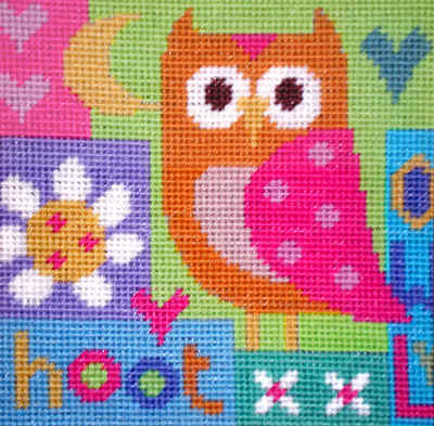 Hoot - Owl Tapestry Kit - Stitching Shed