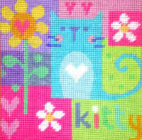 Kitty Cat - Tapestry Kit - Stitching Shed