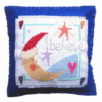Believe Cushion Cross Stitch