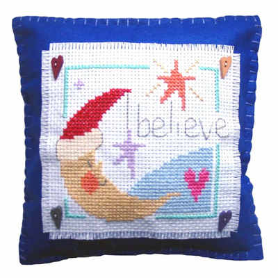 Believe Cushion - Christmas Cross Stitch