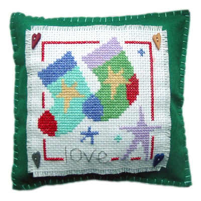 Xmas Stocking Cushion - Christmas Cross Stitch
