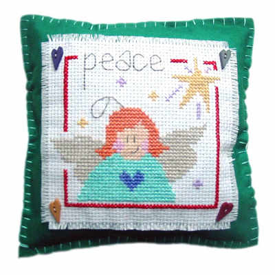 Peace Cushion - Christmas Cross Stitch
