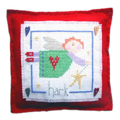 Hark Angel Cushion - Christmas Cross Stitch