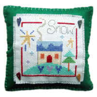 Snow Cushion Cross Stitch