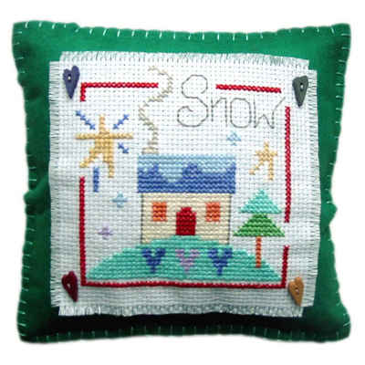 Snow Cushion - Christmas Cross Stitch