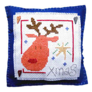 Rudolph Cushion Cross Stitch