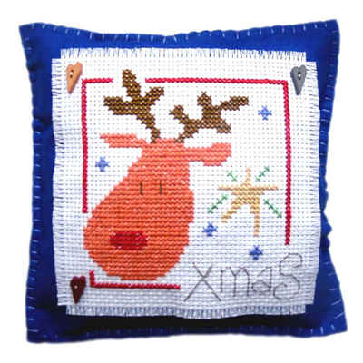 Rudolph Cushion - Christmas Cross Stitch