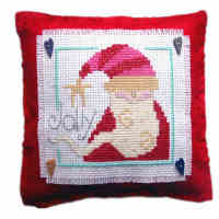 Santa Cushion Cross Stitch