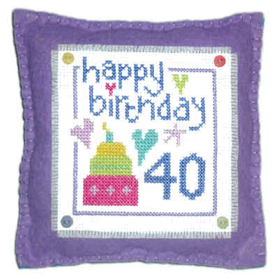 Birthday - Cross Stitch Cushion Kit