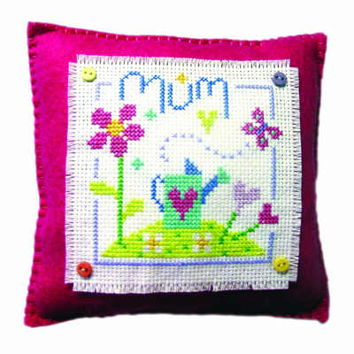 Mum - Cross Stitch Cushion Kit