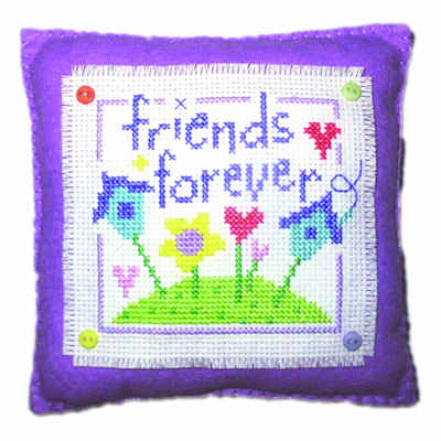 Friends Forever - Cross Stitch Cushion Kit