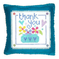 Thankyou - Cross Stitch Cushion Kit