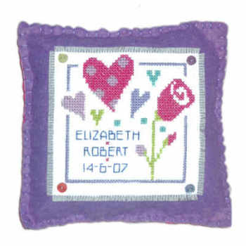 Love Cushion Cross Stitch