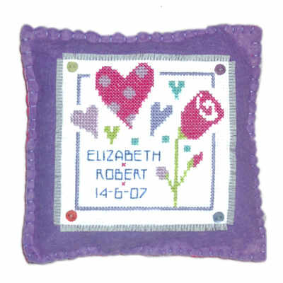 Wedding or Anniversary - Love Cross Stitch Cushion